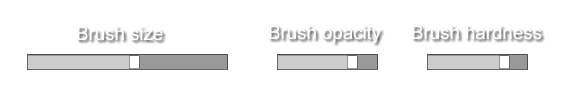 brush properties sliders