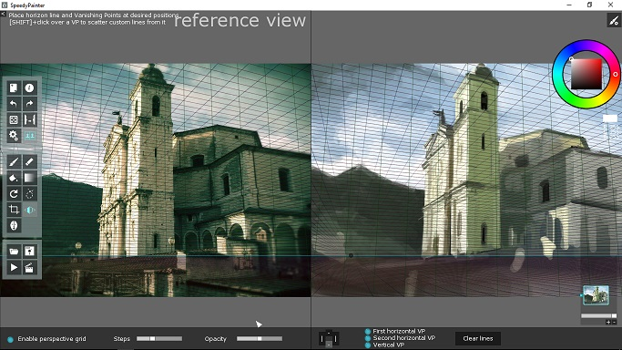 perspective grid overlay